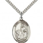 St. Dymphna Oval Pendant  (large)