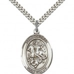 St. George Oval Pendant (large)