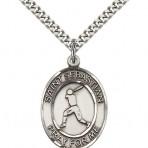 St. Sebastian Oval Baseball Medal (large)