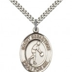 St. Sebastian Oval Basketball Medal (large)