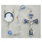 7MM light blue with enamel rosary