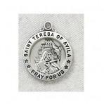 St. Teresa of Avila – Sterling Silver Pendant