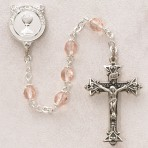 Sterling Silver First Communion Rosary (Rose)