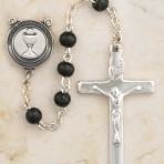 First Communion Rosary (black beads)