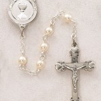 Sterling Silver First Communion Rosary (pearl)