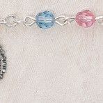 Sterling Silver Rosary Bracelet With Swarovski Crystal Beads