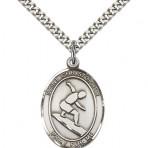 St. Sebastian Surfing Oval Medal (large)