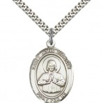 Sterling Silver St. John Vianney Patron Medal (large)