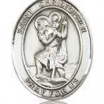 St. Christopher Oval Medal (large)