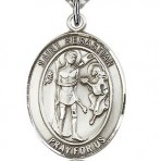 St. Sebastian Oval Medal (large)
