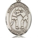 St. Christopher Wresting Oval Medal (large)
