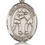 St. Christopher Wresting Oval Medal (large)